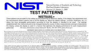 TEST PATTERNS NISTSU02. *