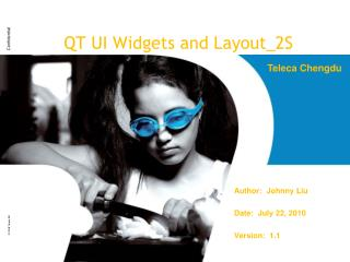 QT UI Widgets and Layout_2S