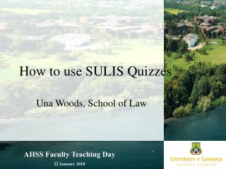 How to use SULIS Quizzes
