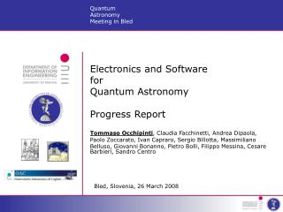 Electronics and Software  for  Quantum Astronomy Progress Report