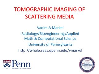 TOMOGRAPHIC IMAGING OF SCATTERING MEDIA