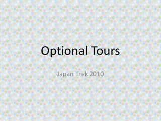Optional Tours