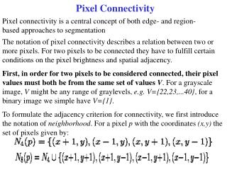 Pixel Connectivity