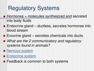 Regulatory Systems