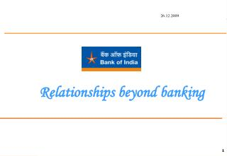 Relationships beyond banking