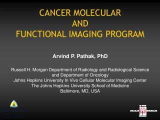 CANCER MOLECULAR  AND  FUNCTIONAL IMAGING PROGRAM