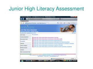 Junior High Literacy Assessment