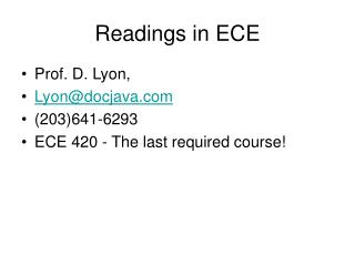 Readings in ECE