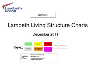Lambeth Living Structure Charts  December 2011       Keys: