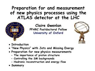 Preparation for and measurement of new physics processes using the ATLAS detector at the LHC