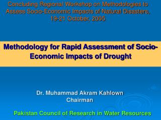 Methodology for Rapid Assessment of Socio-Economic Impacts of Drought