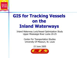 Inland Waterway Lock/Vessel Optimization Study Upper Mississippi River Locks 20-25 Center For Transportation Studies Uni
