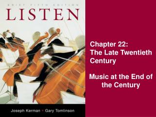 Chapter 22: The Late Twentieth Century