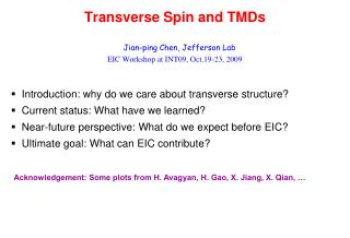 Transverse Spin and TMDs