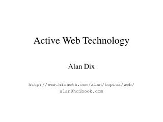 Active Web Technology