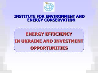 INSTITUTE FOR ENVIRONMENT AND ENERGY CONSERVATION