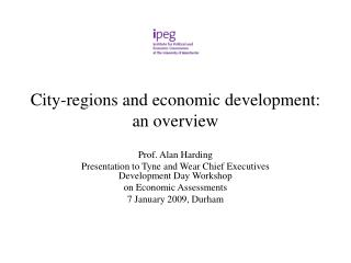 City-regions and economic development:  an overview