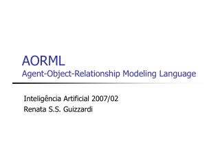 AORML  Agent-Object-Relationship Modeling Language