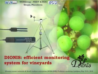DIONIS: efficient monitoring system for vineyards