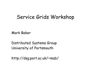 Service Grids Workshop