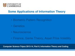 Biometric Pattern Recognition Genetics Neuroscience Finance, Game Theory, Asset Price Volatility