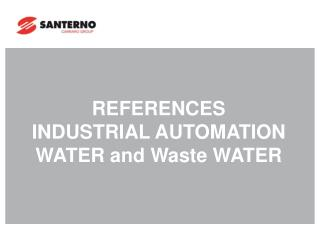 REFERENCES  INDUSTRIAL AUTOMATION  WATER and Waste WATER