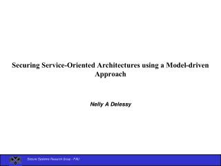 Securing Service-Oriented Architectures using a Model-driven Approach