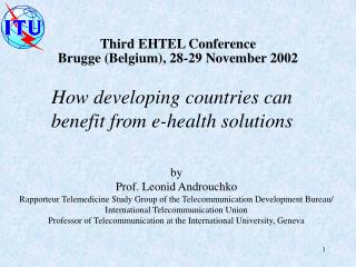 How developing countries can benefit from e-health solutions