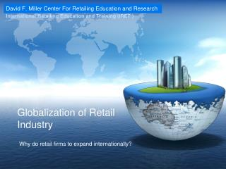 Globalization of Retail Industry
