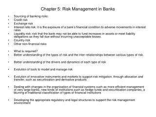 Chapter 5: Risk Management in Banks