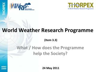 World Weather Research Programme