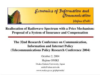 The 32nd Research Conference on Communication,  Information and Internet Policy