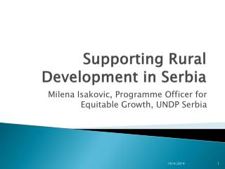 Supporting Rural Development in Serbia
