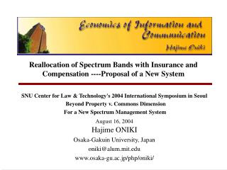 Reallocation of Spectrum Bands with Insurance and Compensation ----Proposal of a New System