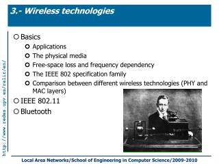 3.- Wireless technologies