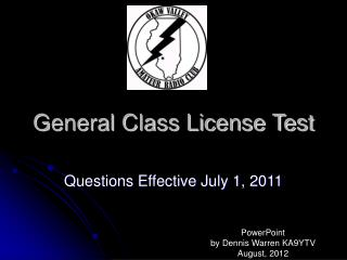 General Class License Test