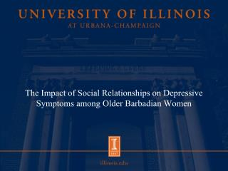 The Impact of Social Relationships on Depressive Symptoms among Older Barbadian Women