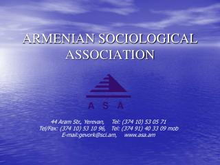 ARMENIAN SOCIOLOGICAL ASSOCIATION