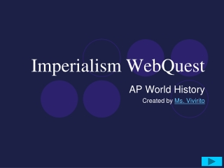 Imperialism WebQuest