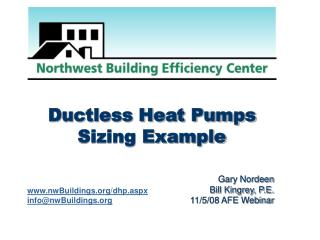 Ductless Heat Pumps Sizing Example