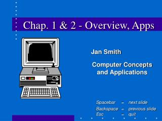 Chap. 1 & 2 - Overview, Apps