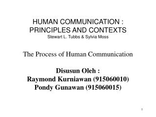 THE IMPORTANCE OF  HUMAN COMMUNICATION