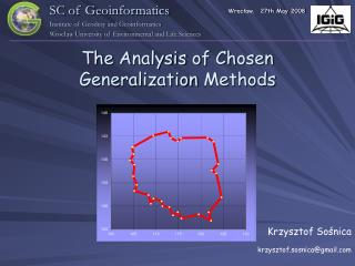 The Analysis  of  Chosen Generalization Methods