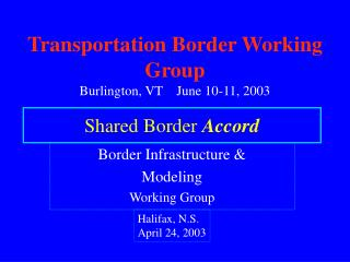 Shared Border  Accord