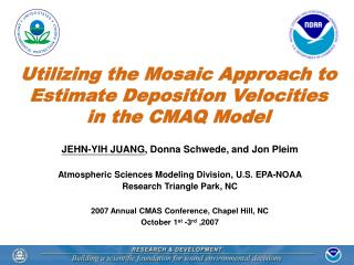 Utilizing the Mosaic Approach to Estimate Deposition Velocities in the CMAQ Model
