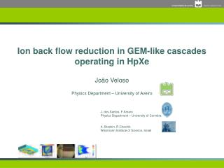 Ion back flow reduction in GEM-like cascades operating in HpXe