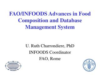 FAO/INFOODS Advances in Food Composition and Database Management System