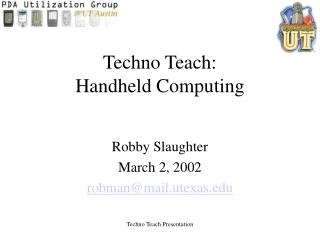 Techno Teach: Handheld Computing