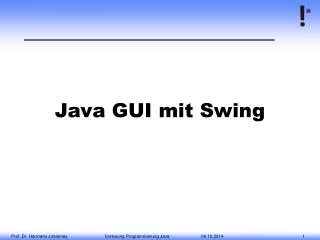 Java GUI mit Swing
