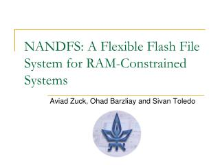 NANDFS: A Flexible Flash File System for RAM-Constrained Systems